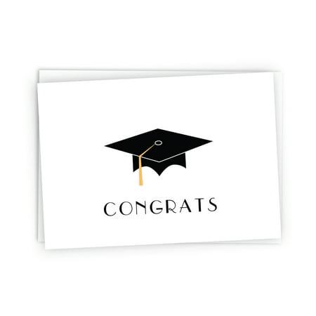 Graduation Cap with Colored Tassel Congratulations Note