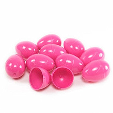 50 PINK EMPTY EASTER EGGS VENDING, CRAFTS, ETC., 50 PINK EASTER EGGS By DISCOUNT PARTY AND NOVELTY