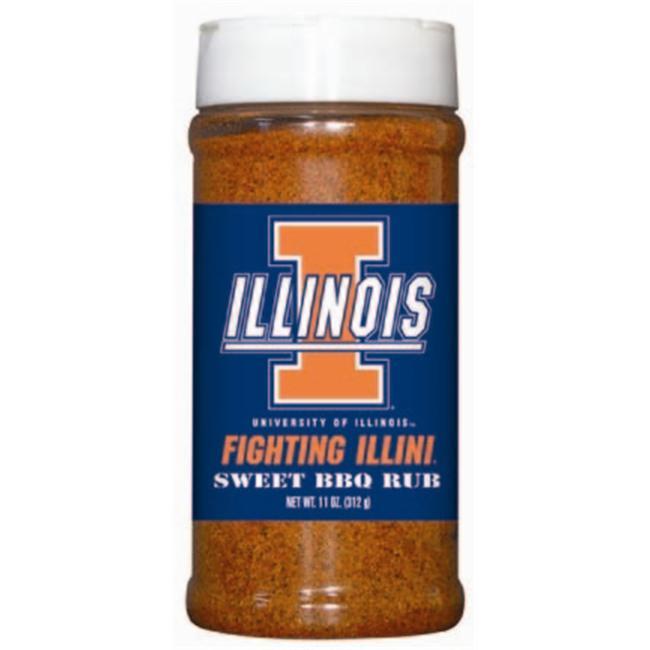 Illinois Fighting Illini NCAA Sweet BBQ Rub (11oz) by Hot Sauce Harrys