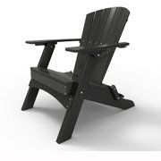 Folding Adirondack Chair by Malibu Outdoor - Hyannis, Black