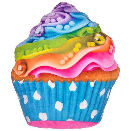 Zoomie Kids Hardnett Rainbow Cupcake Pillow - Rainbow Pillow