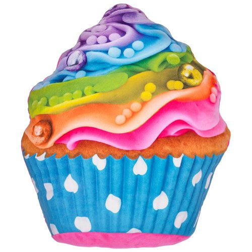 Zoomie Kids Hardnett Rainbow Cupcake Pillow