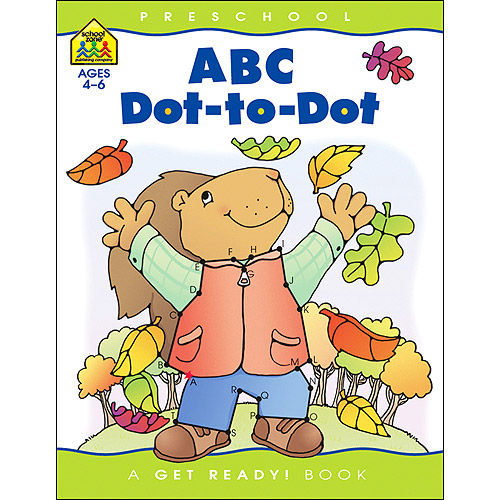 School Zone Preschool Workbooks 32 Pages-Abc Dot To Dot by School Zone