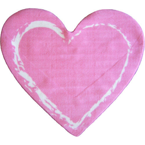 Fun Rugs Fun Shape Medium Pile Heart Area Rug