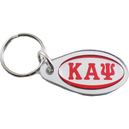 Large Silver Dome (Kappa Alpha Psi Large Tear Drop Domed Mirror Keychain [Silver -)