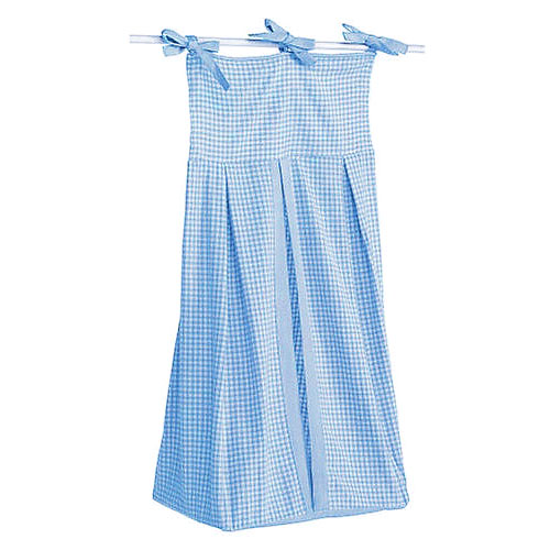 Seed Sprout Basics Gingham Diaper Stacker, Blue