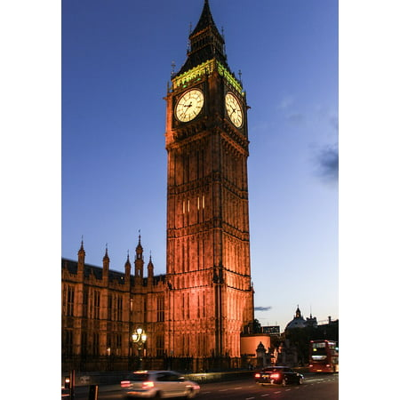 Framed Art For Your Wall London England Big Ben Clock Parliament Uk 10x13 (Big Ben London England Framed)