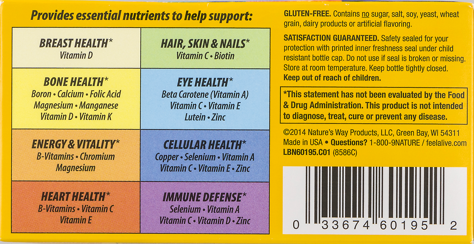 Natures Way Alive Womens Energy Tablets Multivitamin - How much biotin to take for hair growth