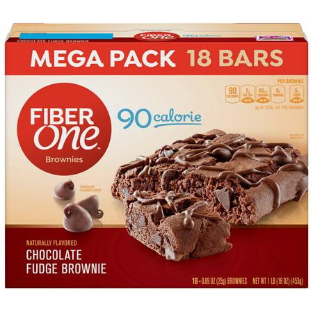 - Fiber One 90 Calorie Chocolate Fudge Brownie Mega Pack 18  Bars 16 oz