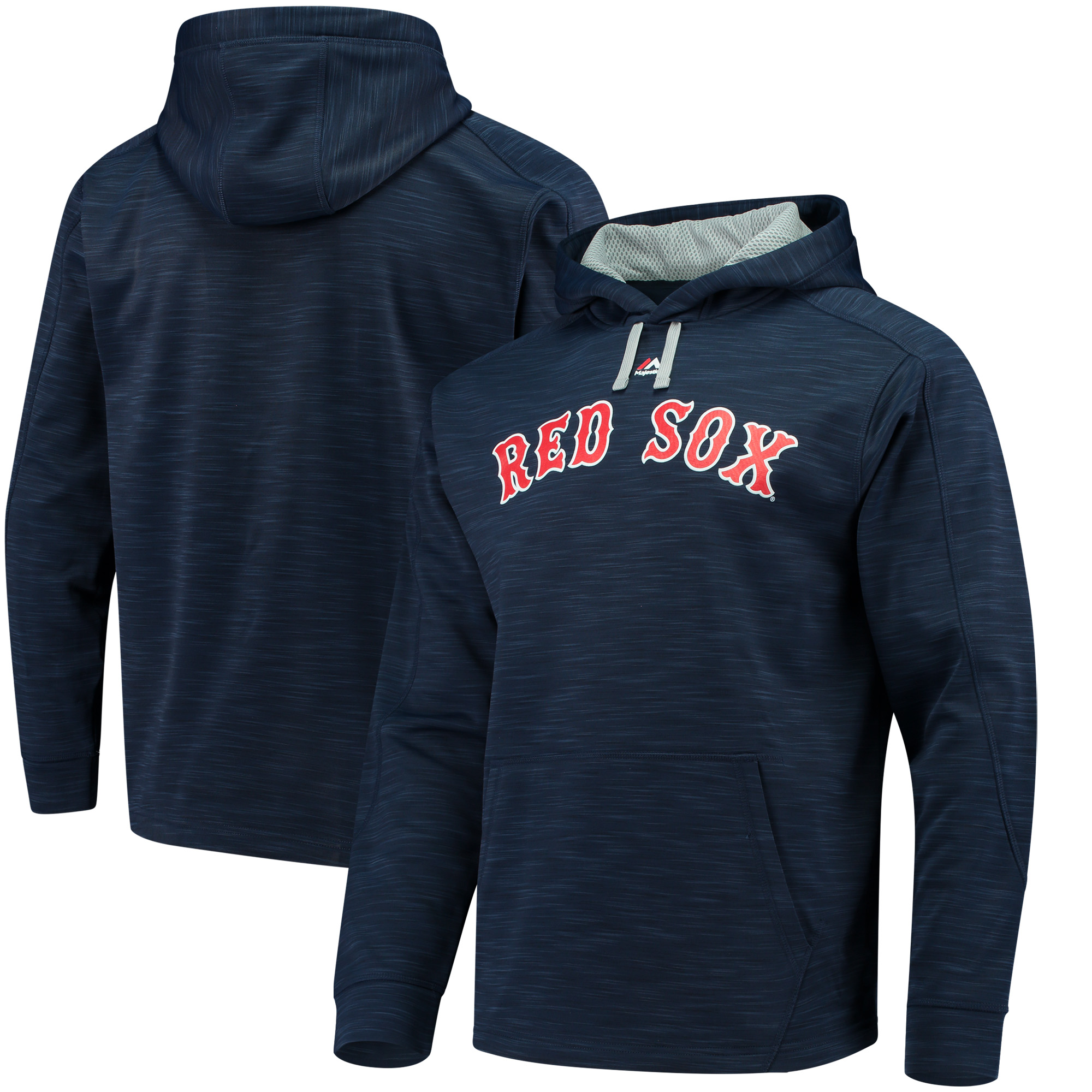 Boston Red Sox Majestic Logo Streak Pullover Hoodie - Navy