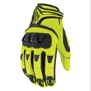 Icon Overlord Resistance Short Gloves Hi-Viz Yellow/Black