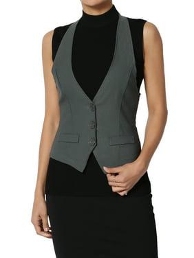 TheMogan Junior's S~3X Semi-Formal Versatile Classic Woven Vest Suitable Waistcoat