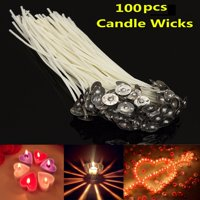 "100Pcs Pack Pre Waxed Candle Wicks for DIY Candle Making Cotton Core With Sustainers 20cm/8"" Long"
