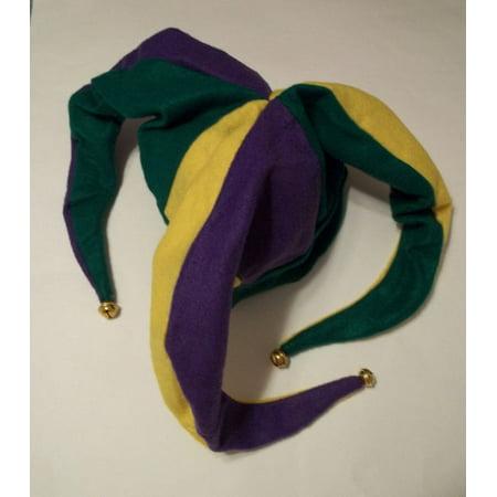 FELT MARDI GRAS JESTER HAT - Mardi Gras Jester Hats