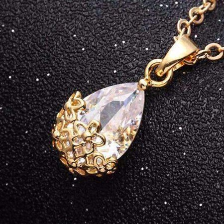ON SALE - Infused Diamond Dust Necklace in Platinum or 18K Gold Plating 18K Yellow Gold / Standard 18k Yellow Gold Necklace