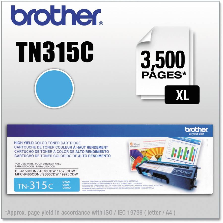 Brother TN315C (TN-315C) High-Yield Cyan Toner Cartridge