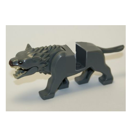 LEGO Animal Warg with Dark Brown Nose Pattern - With Bottom Jaw Minifigure
