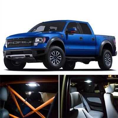 Ford f 150 raptor interior package led lights kit smd white 2011 2013 2007 ford f 150 interior lights