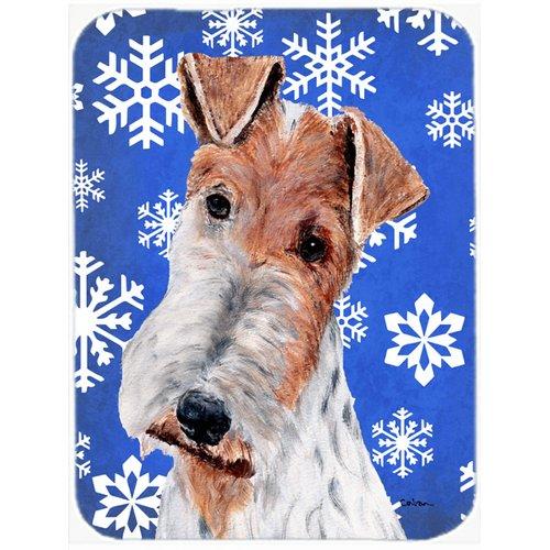 The Holiday Aisle Ashlynn Wire Fox Terrier Glass Cutting Board