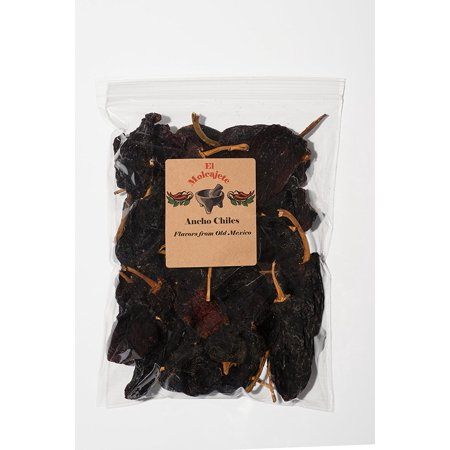 Dried Ancho Mexican Whole Dried Chile  8Oz Resealable Bag   El Molcajete Brand For Mexican Recipes  Tamales  Salsa  Chili  Meats  Soups  Stews   Bbq