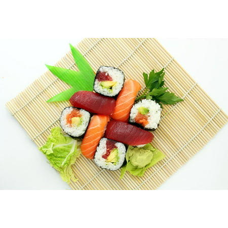 Canvas Print Delicious Asian Sushi Yummy Japanese Food Stretched Canvas 10 x 14