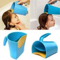 Tuscom Waterfall Shampoo Rinse Cup Baby Bath Cup Wash Hair Rinsing Cup Water Spoon