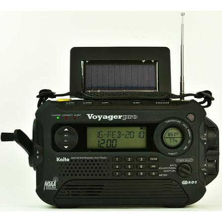 Kaito Ka600l Solar Crank Noaa Weather Radio With Am Fm Shortwave   Black