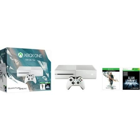 Xbox One 500Gb White Console   Special Edition Quantum Break Bundle
