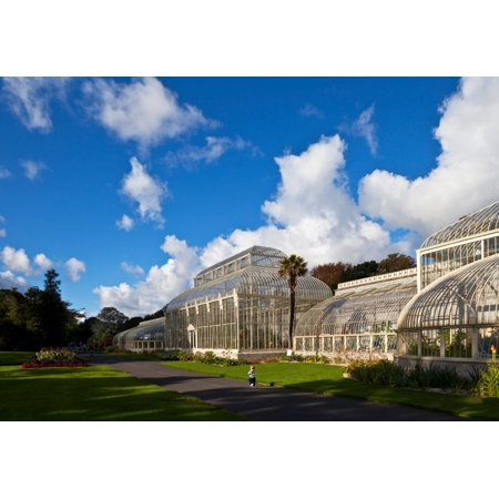 Young Toddler By The Mid Nineteenth Century Restored Curvilinear Glasshouse The National Botanic Gardens Dublin City Ireland Poster Print