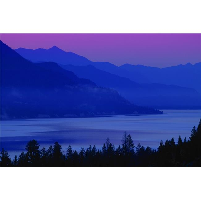 Mountains At Sunset British Columbia Canada Poster Print by Don Hammond, 34 x 22 - Large - image 1 de 1