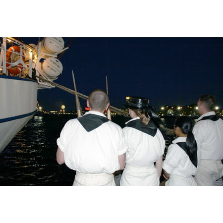 LAMINATED POSTER Sailors from the USS Constitution, at Inner Harbor, watch fireworks light the night skies over Fort Poster Print 24 x - Halloween Night Uss Dates