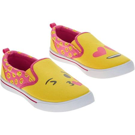 emoji girls' canvas twingore slipon casual shoe