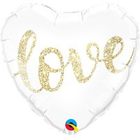 Qualatex 57322 Love Glitter Gold 18 Inch Foil Balloon