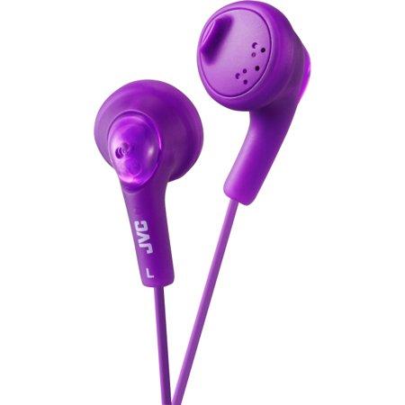 JVC Gumy HA-F160 Earphone - Stereo - Violet - Mini-phone - Wired - 16 Ohm - 15 Hz 20 kHz - Earbud - Binaural -