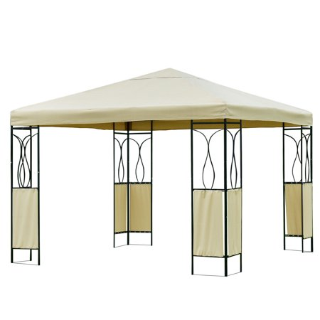 Gymax 10'x10' Beige Patio Outdoor Tent Gazebo Canopy Shelter