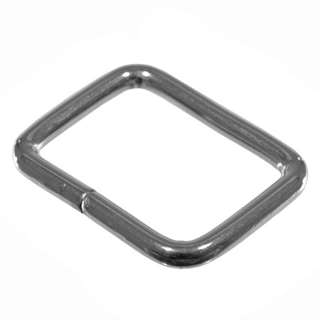 Options Finish (Paracord Planet Rectangular Metal Loop - 3/4 Inch Webbing Size - Silver Finish in Multiple Pack Options)
