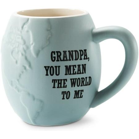 Global Love - You Make a Difference in the World Blue Ceramic Cute Coffee Mug 22 oz (Global Warming Coffee Mug)