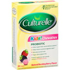 Culturelle Kids! Chewables Natural Bursting Berry Flavor Probiotic Tablets, 30 count