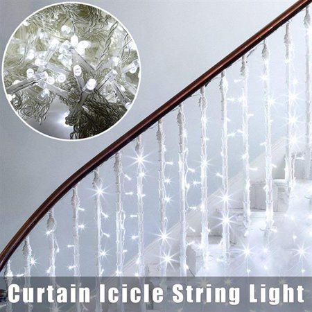 29.5ft x 9.8ft 900 LED Window Curtain String Light Starry Christmas String Light Fairy Lights Wedding Party Home Garden Bedroom Outdoor Indoor Wall Decorations, White