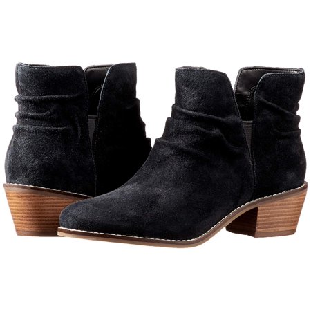 Cole Haan Womens Alayna Slouch Bootie Suede Closed Toe Ankle Chelsea (Cole Haan Lace Up Waterproof Suede Boots)