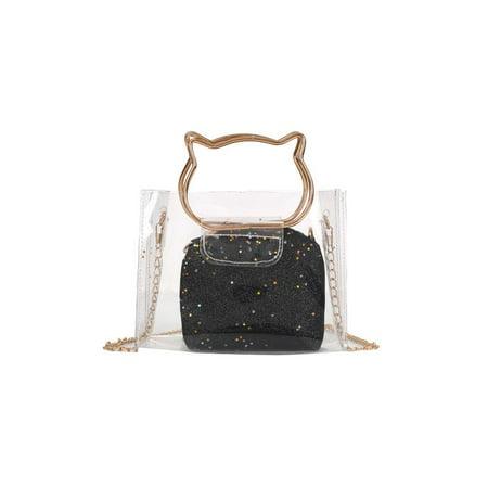... Handbag Purse. Meigar 2018 Women Clear Transpa Shoulder Bag Jelly Candy  Summer 84f76581f50cd