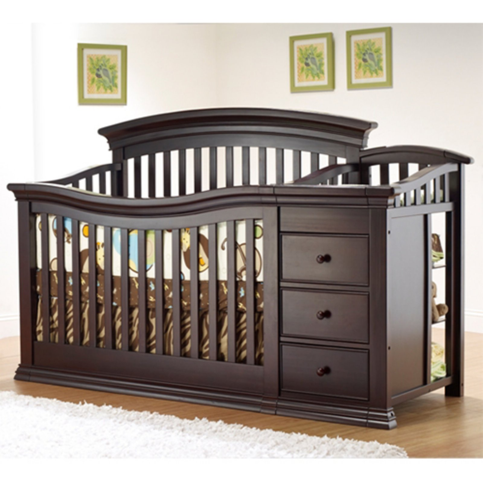 Sorelle Verona 4 in 1 Convertible Crib & Changer