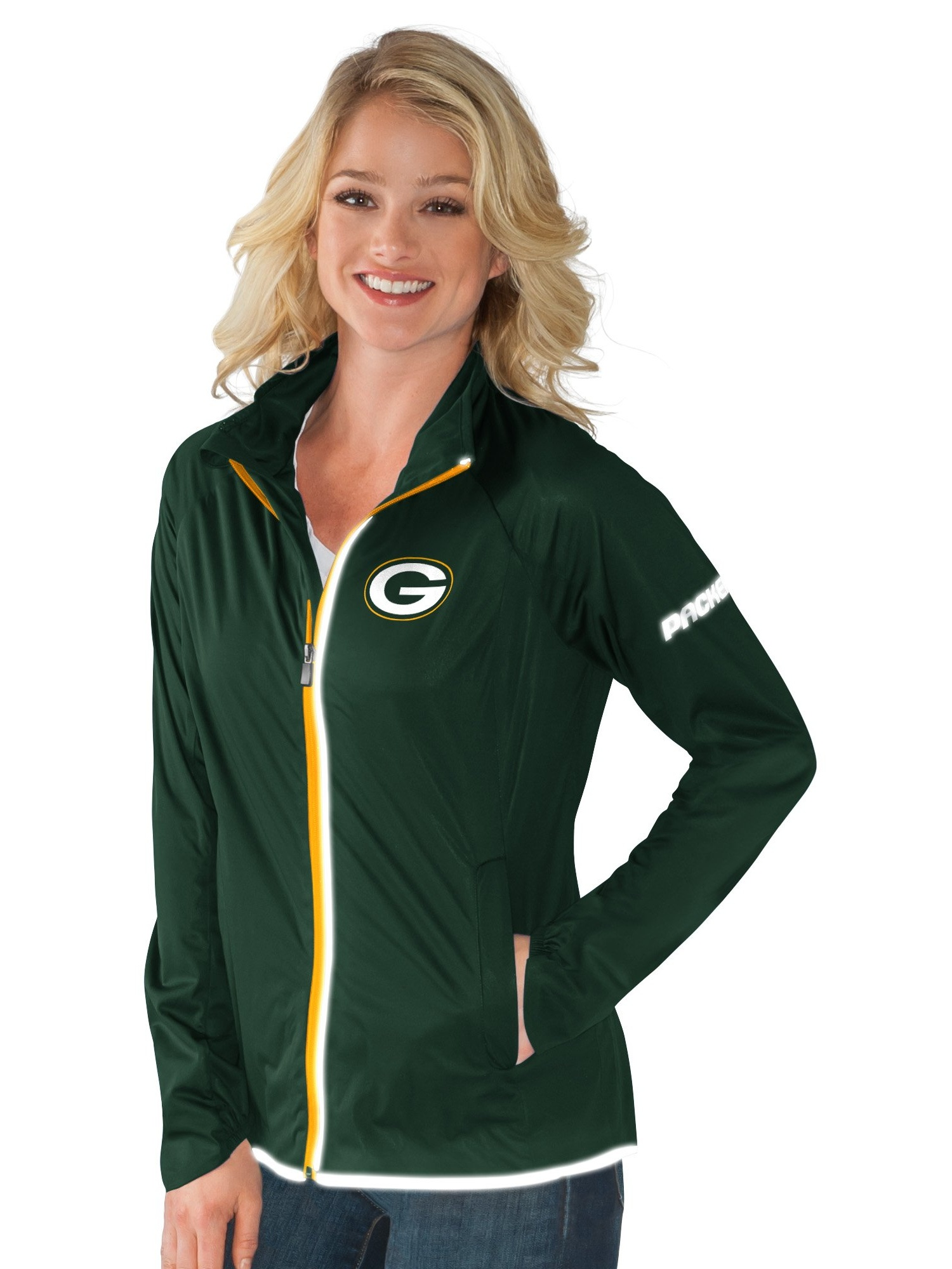 Green Bay Packers Team Colors Full Zip Women's Track Jacket by G-III Sports