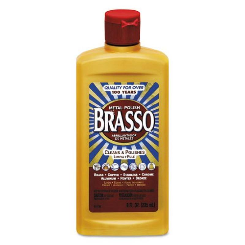 Brasso REC89334 - Metal Polish, Unscented, 8oz Bottle