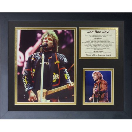 Legends Never Die Jon Bon Jovi Framed Memorabilia