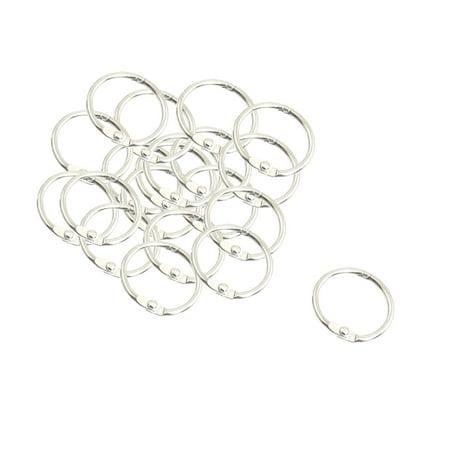 Custom Binding Rings - Unique Bargains 20 x School Office Multipurpose Binding Binder Ring Hook 25mm Dia