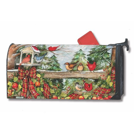 Mailwraps Pineapples (Winter Gathering Magnetic Mailbox Cover Birds Apples Plaid Bows MailWraps )