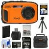 Coleman Xtreme3 C9WP Shock & Waterproof 1080p HD Digital Camera (Orange) with 32GB Card + Battery + Case + Flex Tripod + Float Strap + Kit