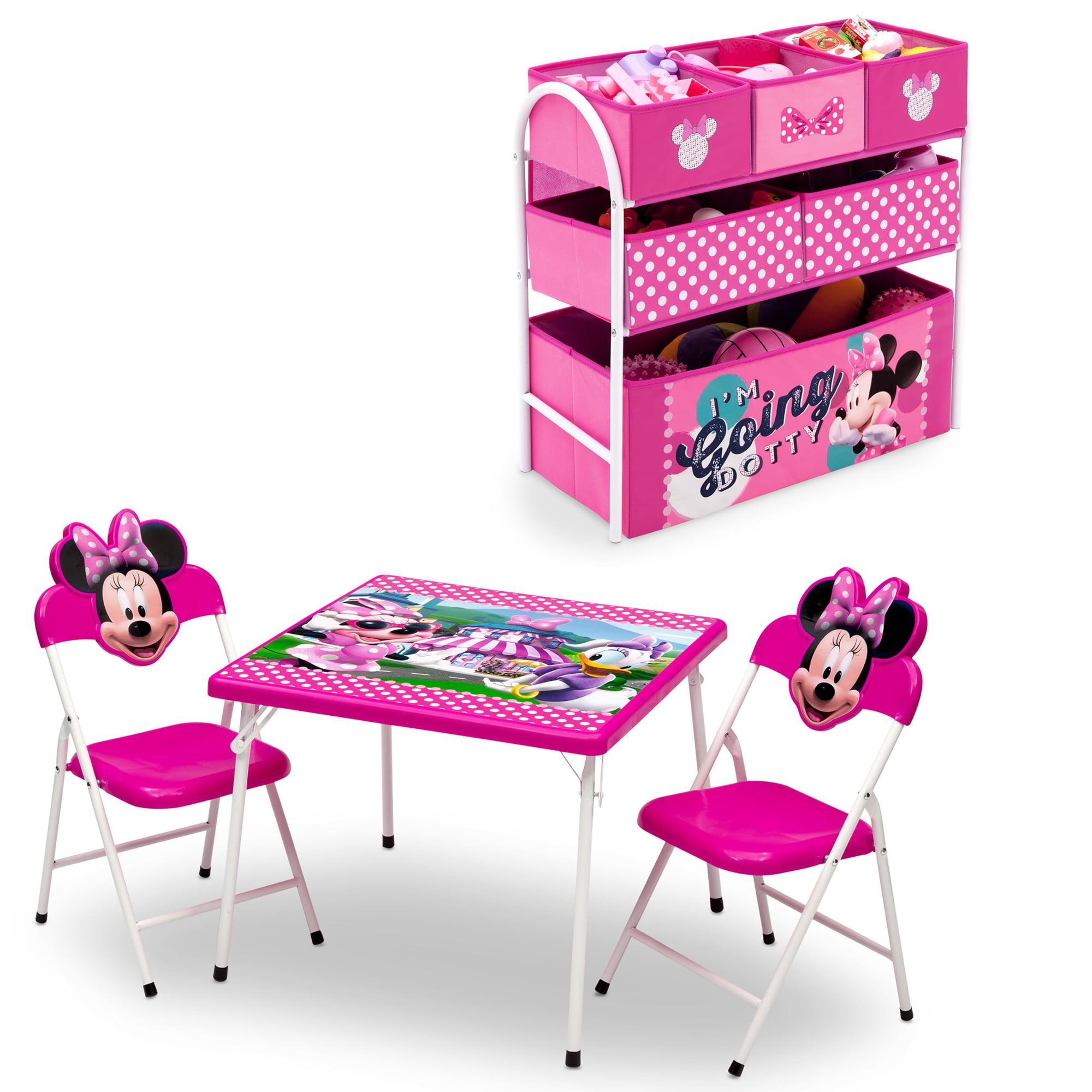 Disney Minnie Mouse 4-Piece Toddler Playroom Furniture Set by Delta Children