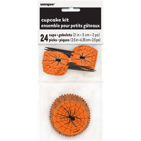 Spider Web Halloween Cupcake Kit for 24